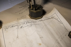 historical documents collection of Castello di Montegiove in Umbria near Orvieto