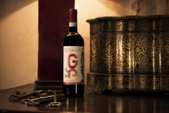 Sangiovese and Canaiolo blend - iconic red wine Gatto Gatto of Castello di Montegiove in Umbria near Orvieto