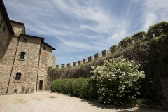 the court yard of Castello di Montegiove in Umbria near Orvieto