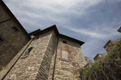 View from the court yard of Castello di Montegiove in Umbria near Orvieto