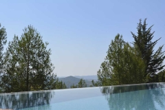 Swimming pool of Castello di Montegiove in Umbria near Orvieto