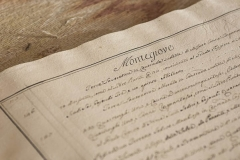 old documents from the historical archives of Castello di Montegiove in Umbria near OrvietoDSC5782
